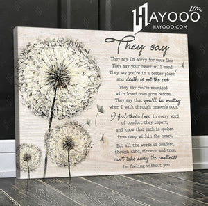Dandelion - Canvas - They say