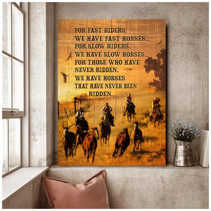 Cowboy - Canvas - For fast rider...