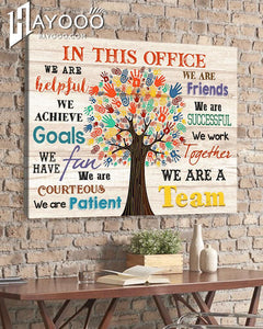 In This Office Canvas We Are A Team - Hayooo Shop
