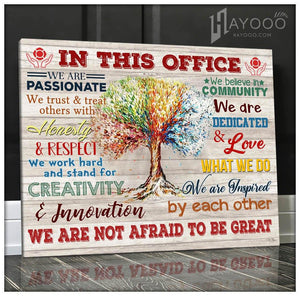 Firefighter In This Office Canvas We Are Not Afraid To Be Great Ver.5 - Hayooo Shop