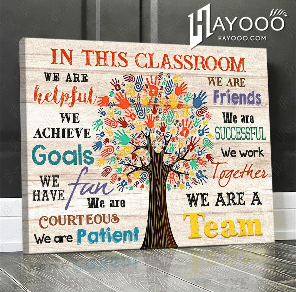 In This Classroom Canvas We Are A Team Ver.4 - Hayooo Shop