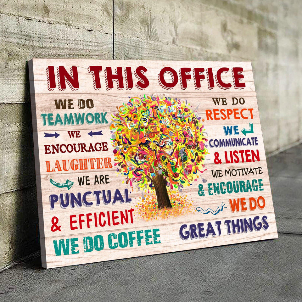 In This Office Canvas We Do Teamwork We Do Great Things - Hayooo Shop