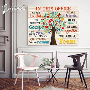 Nursing In This Office Canvas We Are A Team Ver.4 - Hayooo Shop