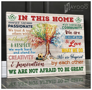 Soccer In This Home Canvas We Are Not Afraid To Be Great Ver.5 - Hayooo Shop