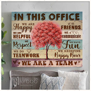 In This Office Canvas We Are Happy Ver.2