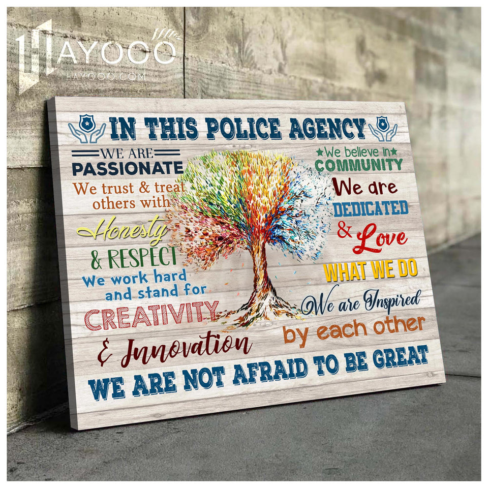 In This Police Agency Canvas We Are Not Afraid To Be Great Ver.5