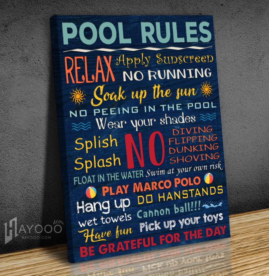 Swimming Canvas Pool Rules
