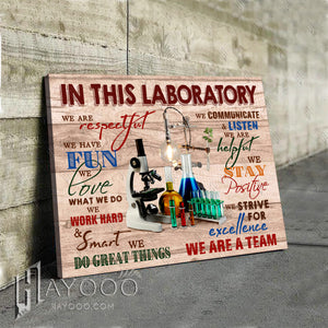 In This Laboratory Canvas We Love What We Do Ver.2