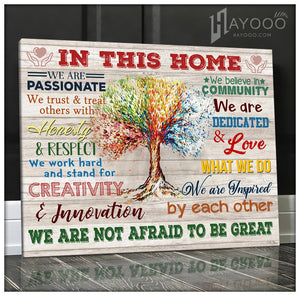 IN THIS HOME - Canvas - We are not afraid to be great Ver.5