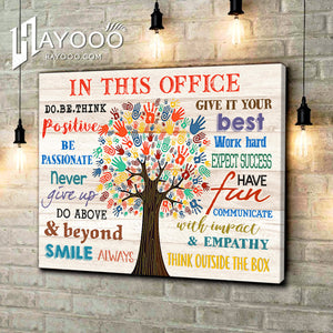 In This Office Canvas Think Outside The Box Ver.3