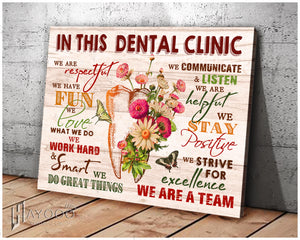 In This Dental Clinic Canvas We Love What We Do Ver.2