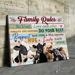 Cow Canvas Family Rules
