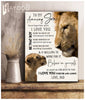 Lion - Canvas - To my amazing son (Dad) - Be that boy