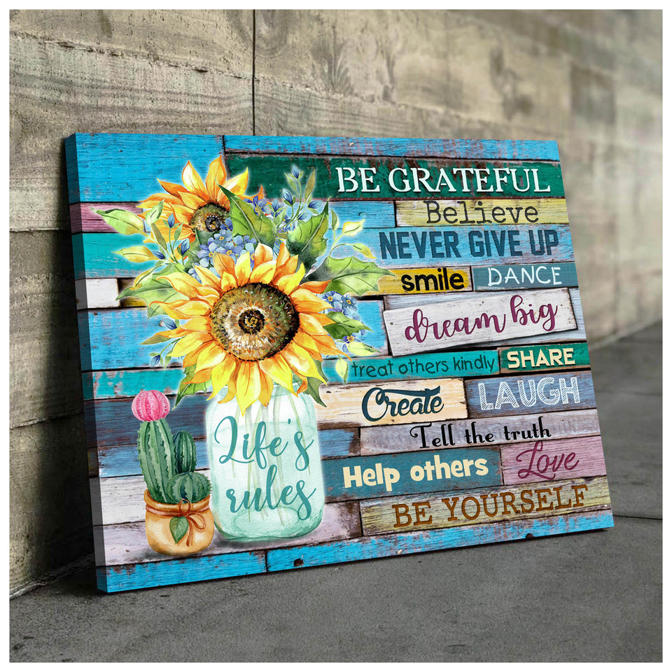 Sunflower Canvas Life'S Rules