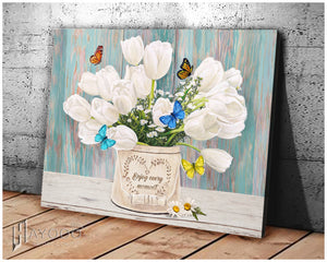 Butterfly Canvas Enjoy Every Moment