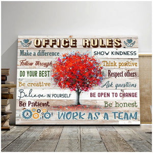 Office Rules Canvas Work As A Team