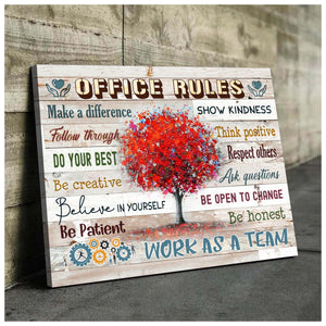 OFFICE RULES - Canvas - Work as a team