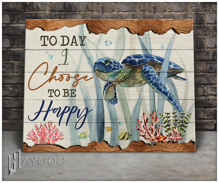 Turtle - Canvas - Today I choose to be happy 2