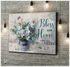Butterfly Canvas Bless Our Home And All Who Enter