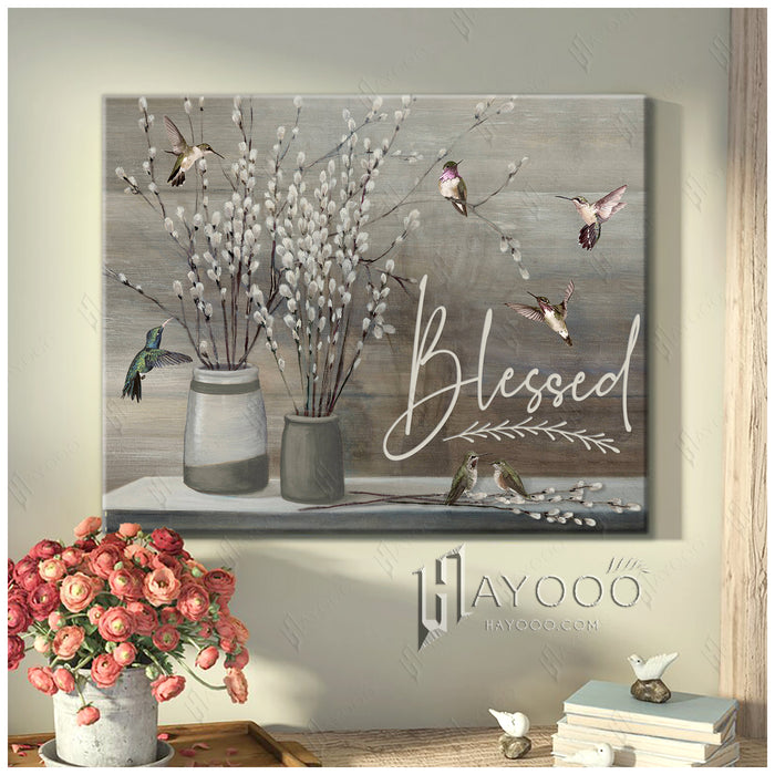 Hummingbird Canvas Blessed 2