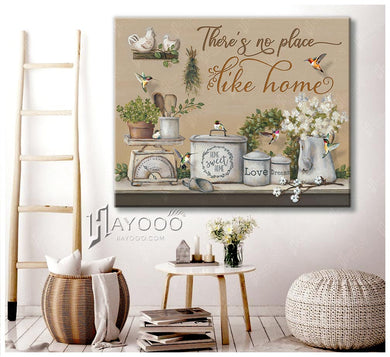 Hummingbird - Canvas - There's no place like home 2