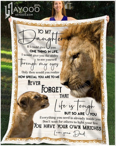 Fleece Blanket Lion To My Daughter You Have Your Own Matches