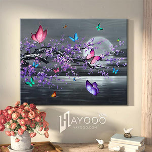 Butterfly Canvas Tree With Butterflies