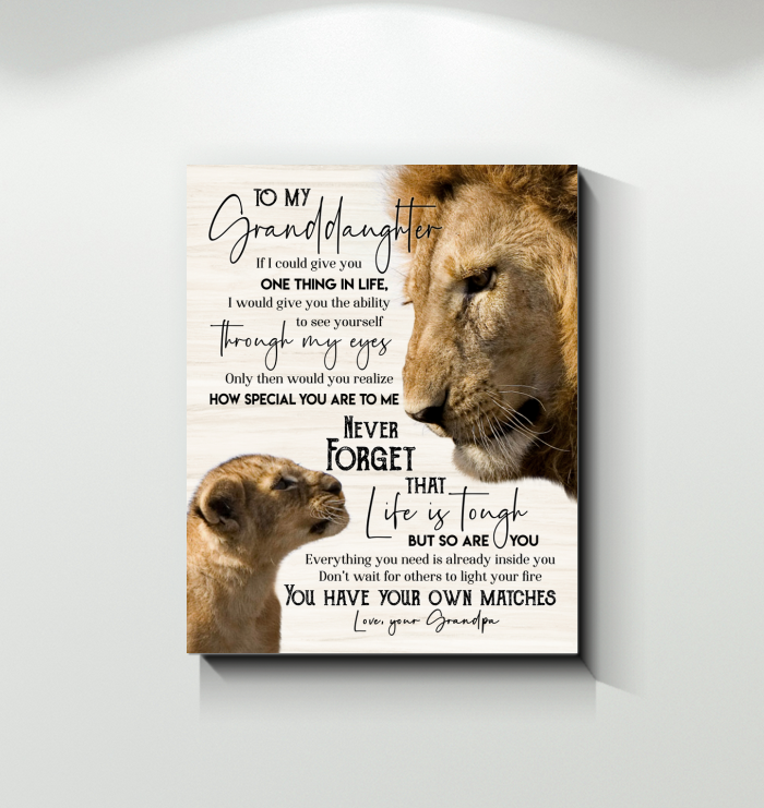 Lion - Canvas - To My Granddaughter - You Have Your Own Matches
