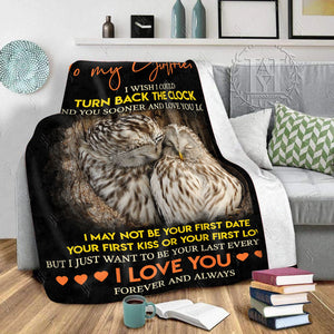 Hayooo Owl Blanket Just Want To Be Your Last Everything