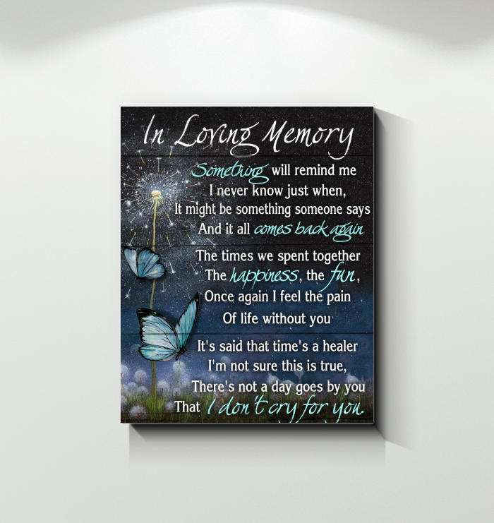 Canvas Butterfly In Loving Memory
