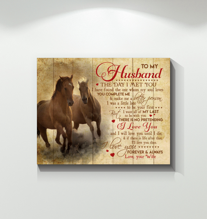 Horse Canvas To My Husband I Love You Forever And Always