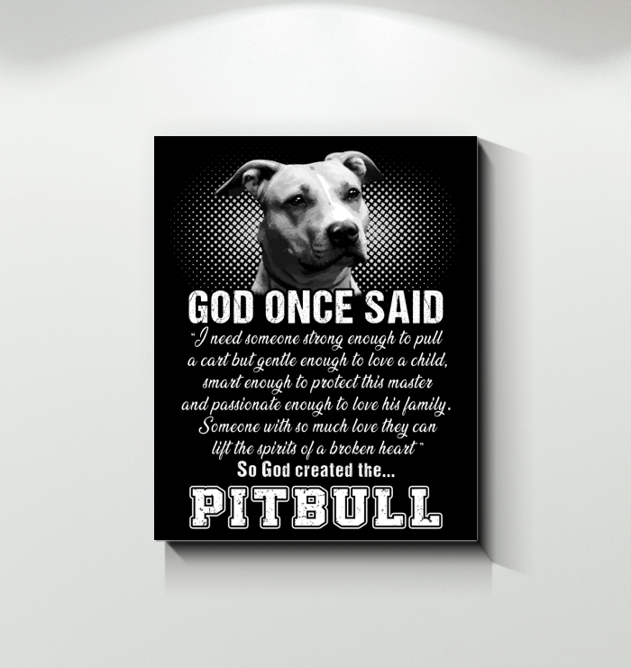 Canvas Pitbull Once God Said