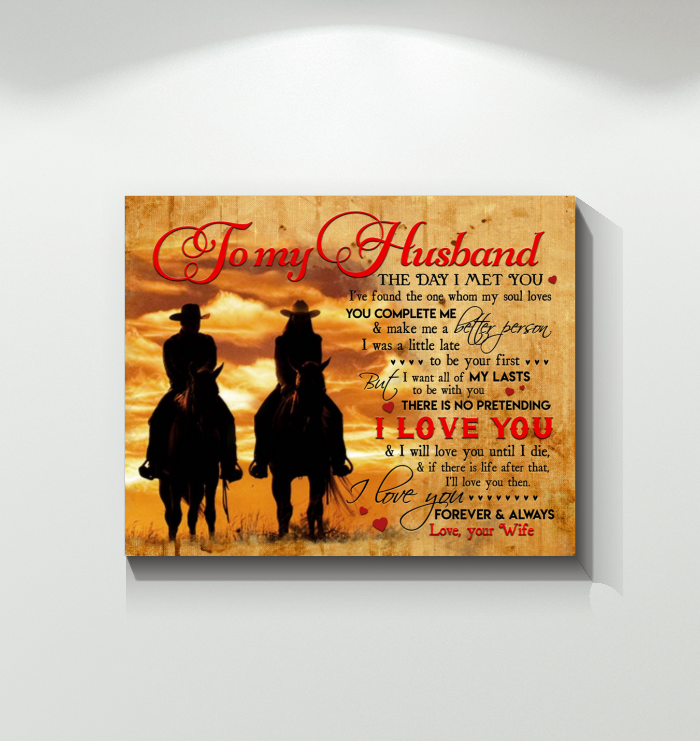 Country Living - Canvas - To My Husband - I Love You Forever And Always