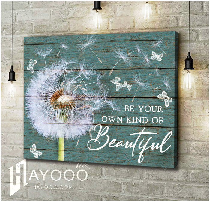 HAYOOO Top 10 Beautiful Dandelion With Butterflies Canvases Be Your Own Kind Of Beautiful Wall Art For Farmhouse Decor