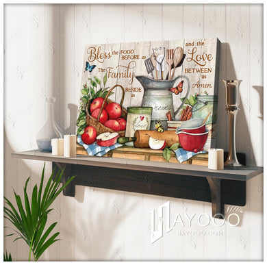 Hayooo Farmhouse Kitchen Butterfly Canvas Wall Art Decor