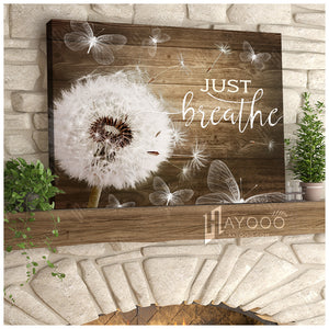 Hayooo Top 10 Beautiful Dandelion With Butterflies Canvases Just Breathe Wall Art For Farmhouse Decor