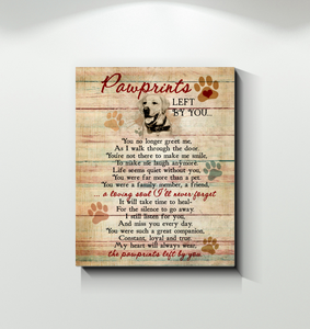 Canvas Labrador Retriever Pawprints