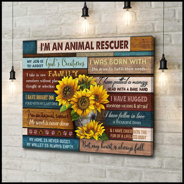 Canvas - Dog - I'm An Animal Rescuer