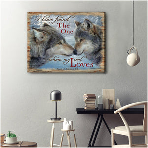 Hayooo I Have Found Wolf Canvas Wall Art Decor