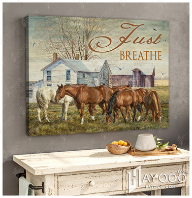 Canvas Horse Just Breathe