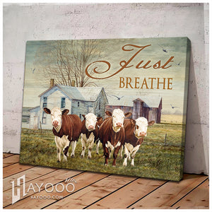 Canvas Cow Just Breathe 2