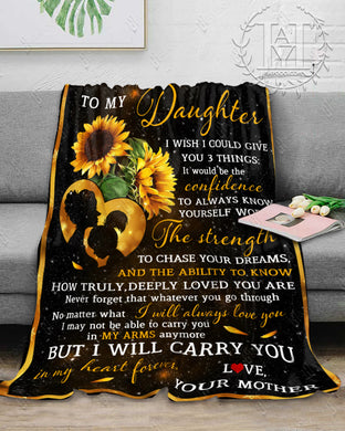 Hayooo Blanket To My Daughter I Wish I Could Give