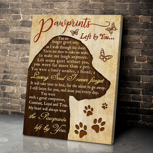 Canvas - Dog - Pawprints left by you