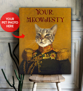 Custom Canvas Cat Your Meowjesty