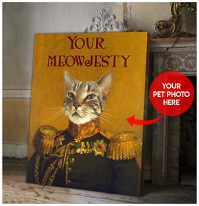 Custom Canvas - Cat - Your Meowjesty