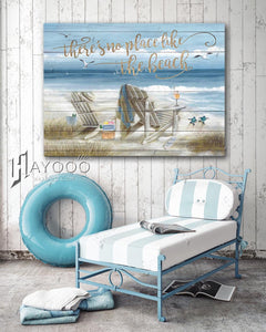 Hayooo There'S No Place Like The Beach Canvas Wall Art Decor