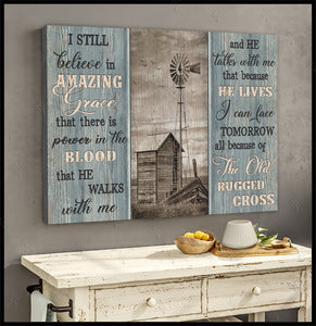 HAYOOO I still believe in Amazing Grace Farm canvas wall art decor