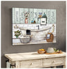 Hayooo Bathroom Rules Canvas Wall Art Decor