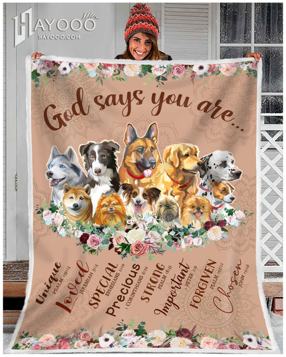 HAYOOO DOG BLANKET God Says You Are