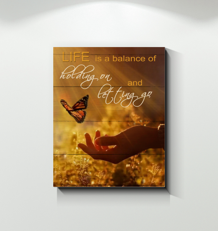 Canvas - Butterfly - Life Is A Balance v.3